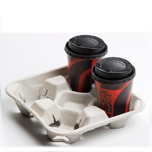 Molded pulp cup holder